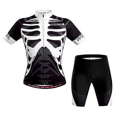 WOSAWE manga corta Ciclismo Jersey ciclismo ropa Set ...