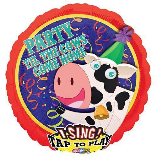 Anagram 31274 Party Til Cows Come Home Sing-A-Tune Foil Balloon 28