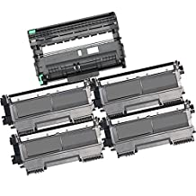 5PK-4 High Yield Inkfirst® Toner Cartridges + 1 Drum Unit TN-450 DR-420 Compatible Remanufactured for Brother TN-450 DR-420 (4 Toner + 1 drum) MFC-7360N MFC-7460DN MFC-7860DW HL-2220 HL-2230 HL-2240 HL-2240D HL2270DW HL-2280DW DCP-7060D DCP-7065DN