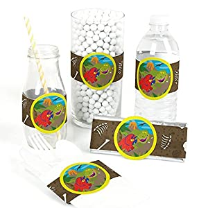Dinosaur - Birthday DIY Party Wrapper Favors - Set of 15