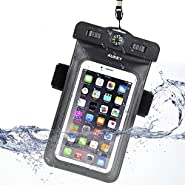 "AUKEY Universal Waterproof Case, Dry Bag (6.0"" diagonal) with Armband, Compass, Lanyard for iPhone 6 Plus/6/6s/5s, Samsung Galaxy S7/S6 and Other Cellphones"