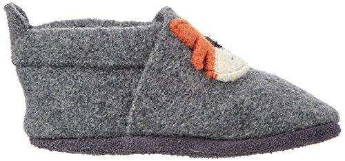 Pololo Unisex-Kinder Wolli Tom Niedrige Hausschuhe Grau (Graphit Orange 830)