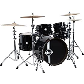 ddrum REFLEX BLK BLK 22 5 PC Reflex Black/Black Kit 5 Piece, SP 22 9