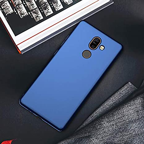 size 40 a8e3b 91854 Mobi Case™ Nokia 7 Plus Premium Full 360° Side Covered Hard Frosted Matte  Ultra-Slim Non-Slip Lightweight Back Cover Case for Nokia 7 Plus (Blue)