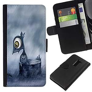 // PHONE CASE GIFT // Moda Estuche Funda de Cuero Billetera Tarjeta de crédito dinero bolsa Cubierta de proteccion Caso LG G2 D800 / Sad Mouse /
