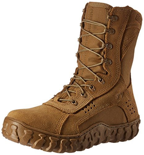 Rocky Men's 8 Inch S2v Protective Toe 6104 Steel Toed Work Shoe,Coyote Brown,10 W US Mens Brown Steel Toe Boot