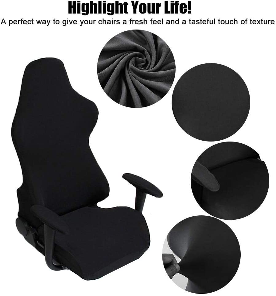 Elastic Office Computer Game Chair Cover Armchair Gaming Chair Stretch Protector Slipcover Arm Rest Cover for Home Office