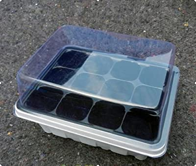 12 Cells Holes Plant Seeds Grow Box Tray Propagation Seeding Cloning Case Box