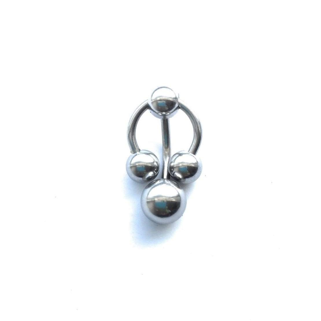 Surgical Steel Horseshoe & Barbell Combo for VCH Piercing. by Generic