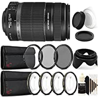 Canon EF-S 55-250mm f/4.0-5.6 IS II Telephoto Zoom Lens for Canon SLR Cameras with Accessories