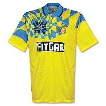 91 - 92 Inter de Milán 3rd - Camiseta utilizado, hombre, amarillo ...