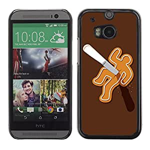 CaseCaptain Carcasa Funda Case - HTC One M8 / Gingerbread Murder Funny Illustration /