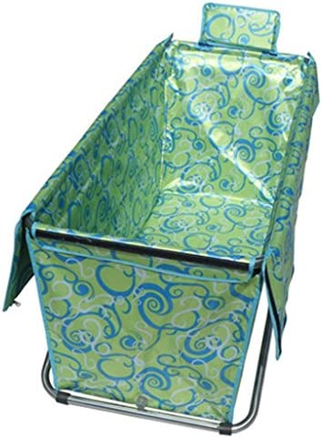 GX浴槽 インフレータブル折りたたみバスタブ、アダルト&ベイビーSPAバスタブポータブル大規模な無料インフレータブル増粘剤バレル (色 : Green)