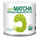 MatchaDNA Certified Organic Matcha Green Tea Powder (16 oz TIN CAN)