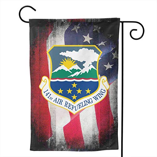 Ellive Air Force 141st Air Refueling Wing 12 X 18 Inch Outdoor Yard Flags, Decorative House Yard Flag, Polyester, Durable