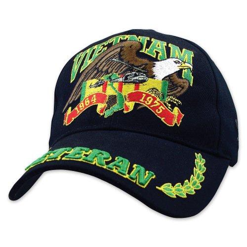 Black Vietnam Veteran Ball Cap, Outdoor Stuffs