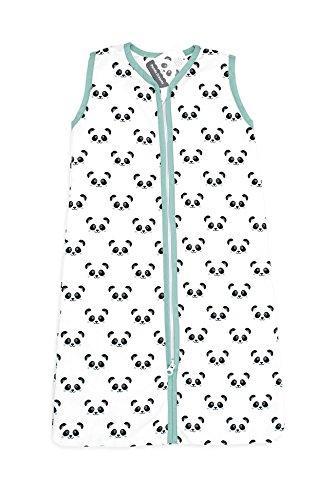 Briljant Baby fwzomerslaapzak070panda03r Saco de dormir de verano con cremallera con Panda, 70 cm, verde: Amazon.es: Bebé