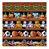 Beistle Cristmas (Happy New Year) Santa's Workshop Backdrop 4ft. X 30ft. Party Accessory (1/pkg) Pkg/12