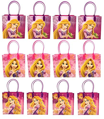 Disney Nickelodeon Marvel Birthday Goodies Gift Favor Bags Party Supplies - 12 Pieces (Rapunzel - -