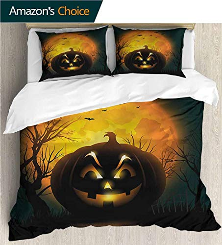 VROSELV-HOME Bedspread Set Queen Size,Box Stitched,Soft,Breathable,Hypoallergenic,Fade Resistant Kids Bedding-Does Not Shrink Or Wrinkle-Halloween Fierce Evil Character (80