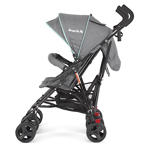 51njOODFI7L - Dream On Me Volgo Twin Umbrella Stroller, Mint/Dark Grey