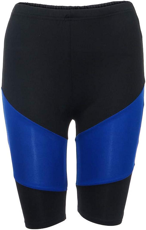 Amazon.com: WM & MW Women Yoga Shorts,Fashion Patchwork High ...