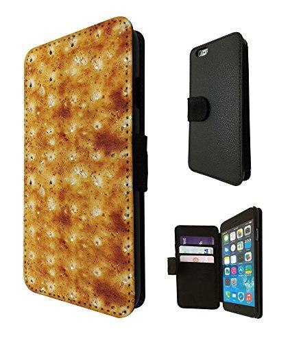 739 - Yum Yum Biscuit Slice Design iphone SE 5 5S Fashion Trend TPU Leder Brieftasche Hülle Flip Cover Book Wallet Credit Card Kartenhalter Case