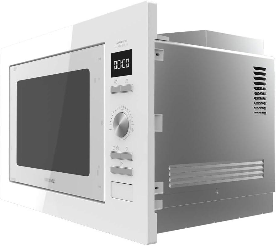 Microondas encastrable GrandHeat 2590 Built-In White. Capacidad 25 litros, Potencia 900 W, Grill 1000 W, 8 Funciones preconfiguradas