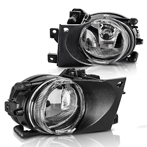 AUTOSAVER88 Fog Lights H8 12V 35W Halogen Lamp For BMW E39 5 Series 2001 2002 2003 (Clear Glass Lens w/Bulbs)