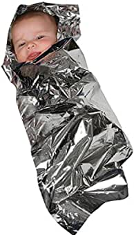 MABIS Sterile Foil Baby Bunting Emergency Heat-Conserving Baby Blanket for Newborns and Infants