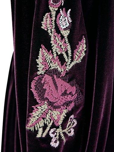 Pannesamtkleid Lila by Laura Floraler Pflegeleicht Kent Stickerei Damen mit gSwW8qES