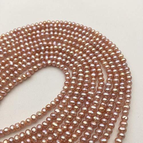 Bead Jewelry Making Pink Freshwater Pearl Potato Shape Size 2.8-3.2mm Approx 15.5