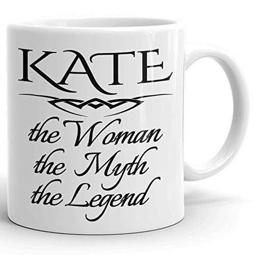 Best Personalized Womens Gift! The Woman the Myth the Legend - Coffee Mug Cup for Mom Girlfriend Wife Grandma Sister in the Morning or the Office - K Set 2
