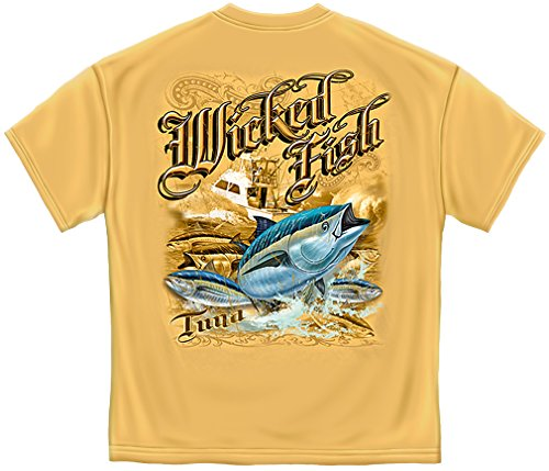 Bass Fishing Shirts Men | Tuna Gold T Shirt -