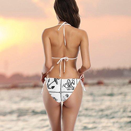 o Mujer Cangrejo ba Ba multicolor Traje piezas Dos Alaza Bikini ador de aFEnTA8