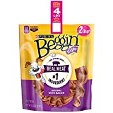 Beggin' Strips Dog Treats By Purina Bundle of 2 Lg. Bags (1) Bacon & (1) Bacon and Cheese 2 lbs. Each