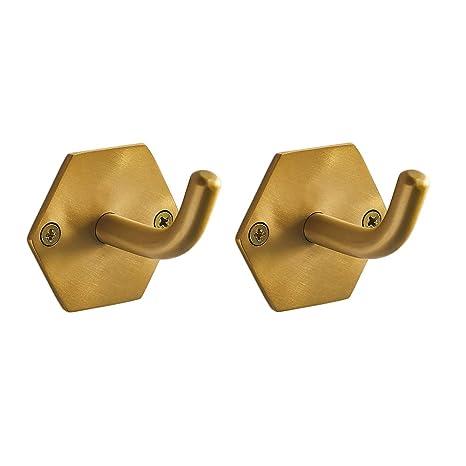 Amazon.com: Colgador de latón con gancho hexagonal para ...