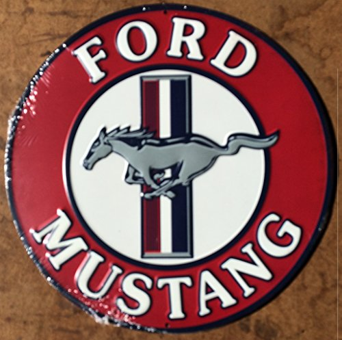 Embossed Sign - Genuine FORD MUSTANG Embossed Tin Wall Art Sign -Great Father's Day Gift- MAN CAVE