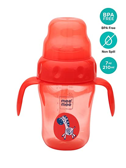 18586c46fe8 Buy Mee Mee 210ml 2 in 1 Spout and Straw Sipper Cup (Red) Online at Low  Prices in India - Amazon.in