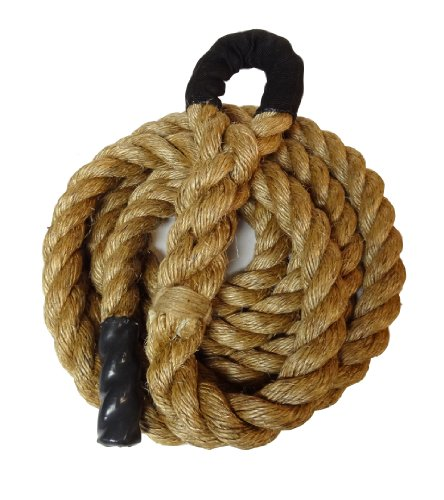 Manila Climbing Rope w/ Eyelet End - 1.5'' X 15' - Guaranteed to Last by CFF
