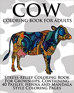 Amazon.com: Cow Coloring Book For Adults: Stress-relief Coloring ...