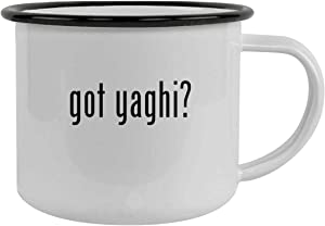 got yaghi? - 12oz Stainless Steel Camping Mug, Black