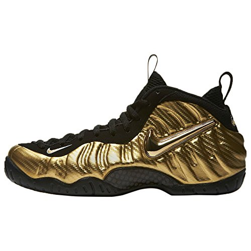 Nike Air Foamposite Pro Mens Basket-shoes 624.041 Metalliskt Guld / Svart-blac