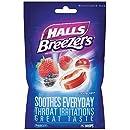 HALLS Breezers Throat Drops, (Cool Berry, 25 Drops, 12-Pack)