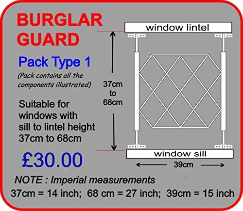 Security Grill Size 1 By Window Guards By Atlantic Hardware