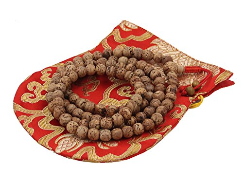 - DharmaObjects Tibetan Buddhist Meditation Genuine Bodhiseed Mala Prayer Rosary 108 Beads