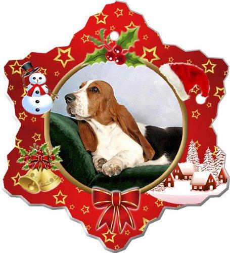 - Basset Hound Porcelain Holiday Ornament