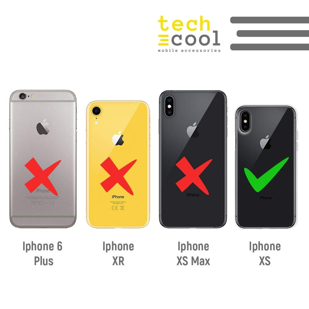 Bandera Comunidad de Madrid Funnytech/® Funda Silicona para iPhone XS Gel Silicona Flexible, Dise/ño Exclusivo