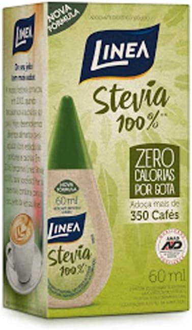 Adoçante Líquido Stevia 100% Zero Calorias Linea 60ml