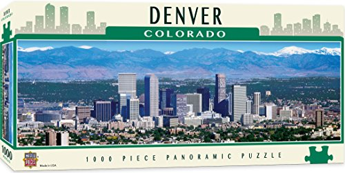 - MasterPieces Cityscapes Panoramic Jigsaw Puzzle, Downtown Denver, Colorado, Photographs by Stephen Gjevre, 1000 Pieces